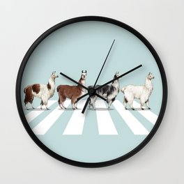 Llama The Abbey Road #1 Wall Clock