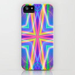techno wave tile iPhone Case