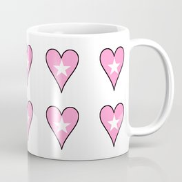 Star in a heart 2 -light,spangled,heart,star,love,girly,romantic,cute,women,sky,rays,pointed,lovely Coffee Mug
