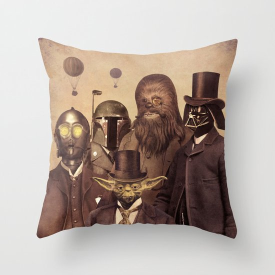 Victorian Wars  - square format Throw Pillow