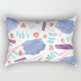 Watercolor Mess Rectangular Pillow
