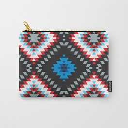 Colorful patchwork mosaic oriental kilim rug with traditional folk geometric ornament. Tribal style Carry-All Pouch