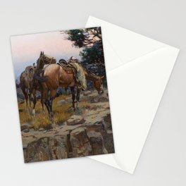 """""""Innocent Allies"""" by Charles M Russell Stationery Cards"""