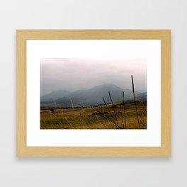 South Boulder Mountains Framed Art Print