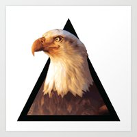 eagle Art Prints featuring EAGLE by eARTh