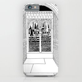 Alhambra Interior, Granada, Spain iPhone Case