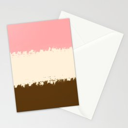 Classic Neapolitan Ice Cream Print Stationery Cards