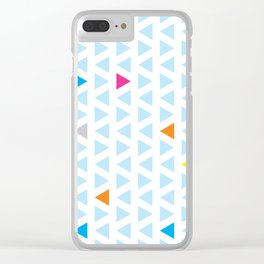 Triangle Columns Clear iPhone Case