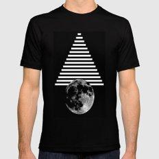 moon walk MEDIUM Mens Fitted Tee Black