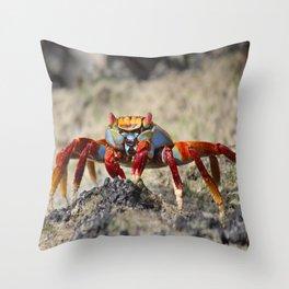 Crabby Sally Crab Throw Pillow