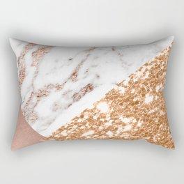 Layers of rose gold Rectangular Pillow