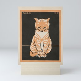 Seated Cat, Julie de Graag, 1918 Mini Art Print