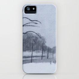 En hiver II iPhone Case
