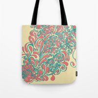 coral Tote Bags featuring Coral  by LindsayMichelle