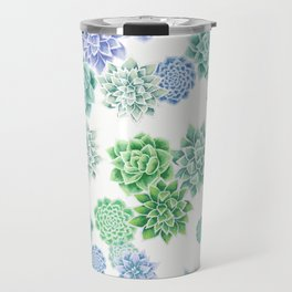 Floral succulent pattern Travel Mug