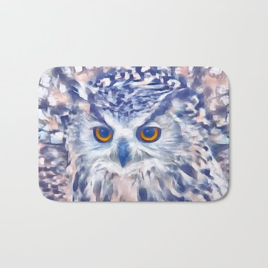 Fluffy owl Bath Mat