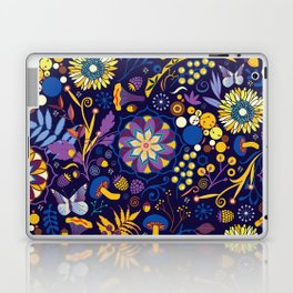 Ripe autumn – purple and yellow Laptop & iPad Skin