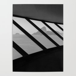 MAC Interior View | Architect Oscar Niemeyer | Niterói-Brazil Poster