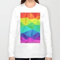 low poly Long Sleeve T-shirts featuring rainbow low poly by tony tudor