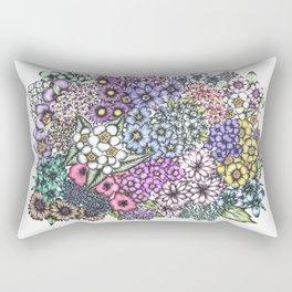A Bevy of Blossoms Rectangular Pillow
