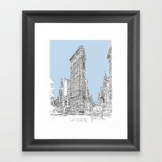 The Flat Iron Framed Art Print