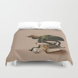 Well-Read Octopus Duvet Cover