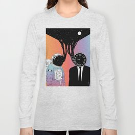 A Portrait of Space and Time ( A Study of Existence) Long Sleeve T-shirt