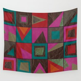 squares of colors and shreds Wall Tapestry