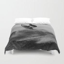 Surf black white Duvet Cover