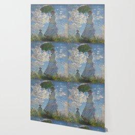 Claude Monet, Woman with a Parasol Wallpaper