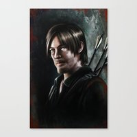 daryl dixon Canvas Prints featuring Daryl Dixon by Angelo Quintero