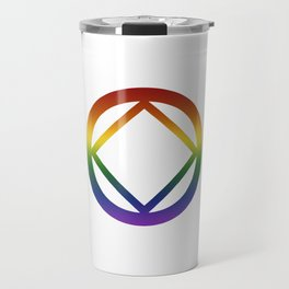 Narcotics Anonymous Rainbow Pride Symbol Travel Mug