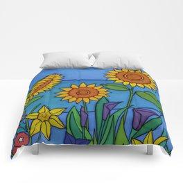 Sunflower Dance Comforters