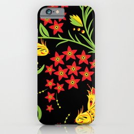 Fish khokhloma iPhone Case