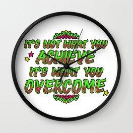 Achieve & Overcome Wall Clock