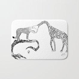Giraffe/Cheetah Bath Mat