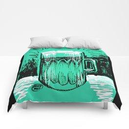 Beer_Teal Comforters