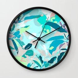 Apple tree zoom in Wall Clock