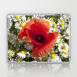 Poppy and the flowers Laptop & iPad Skin