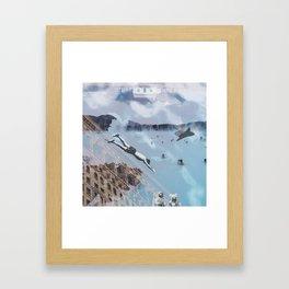 Comrades Collage Framed Art Print