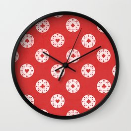 Poker Dots Wall Clock