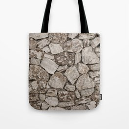 Old Rustic Stone Wall Tote Bag