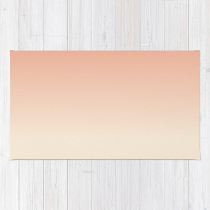 Antique White And Dark Salmon Ombre Colors Rug
