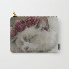 SLEEPY KITTY by Monika Strigel Carry-All Pouch