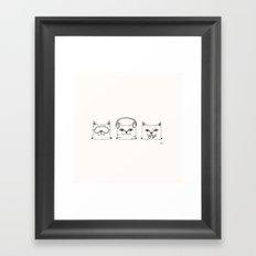 3 wise cats Framed Art Print