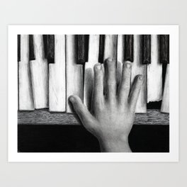 C Major - charcoal drawing Art Print