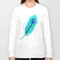 indigo Long Sleeve T-shirts featuring Indigo by N. Rogers Fine Art