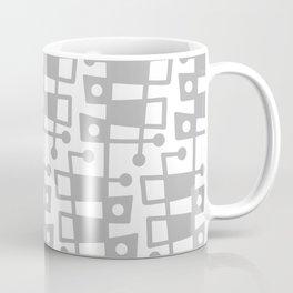 Mid Century Modern Abstract 213 Gray Coffee Mug