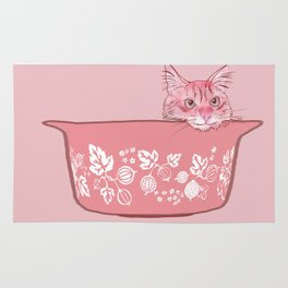 Cat in Bowl #1 Rug