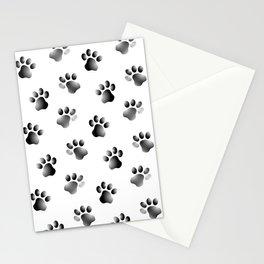Cat Dog Animal Paw Prints Stationery Cards
